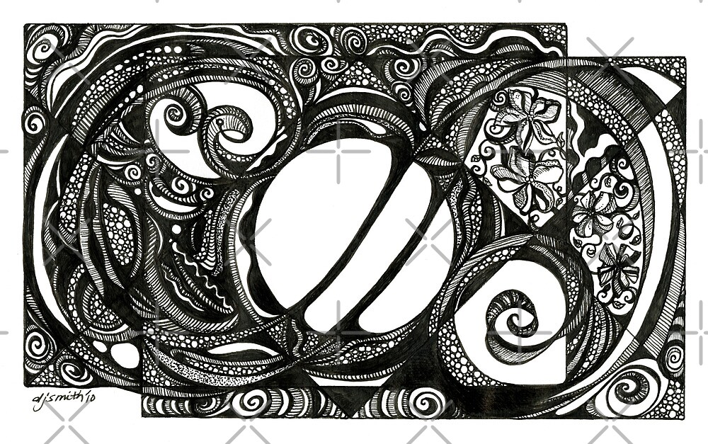 Serendipity, Ink Drawing by Danielle Scott