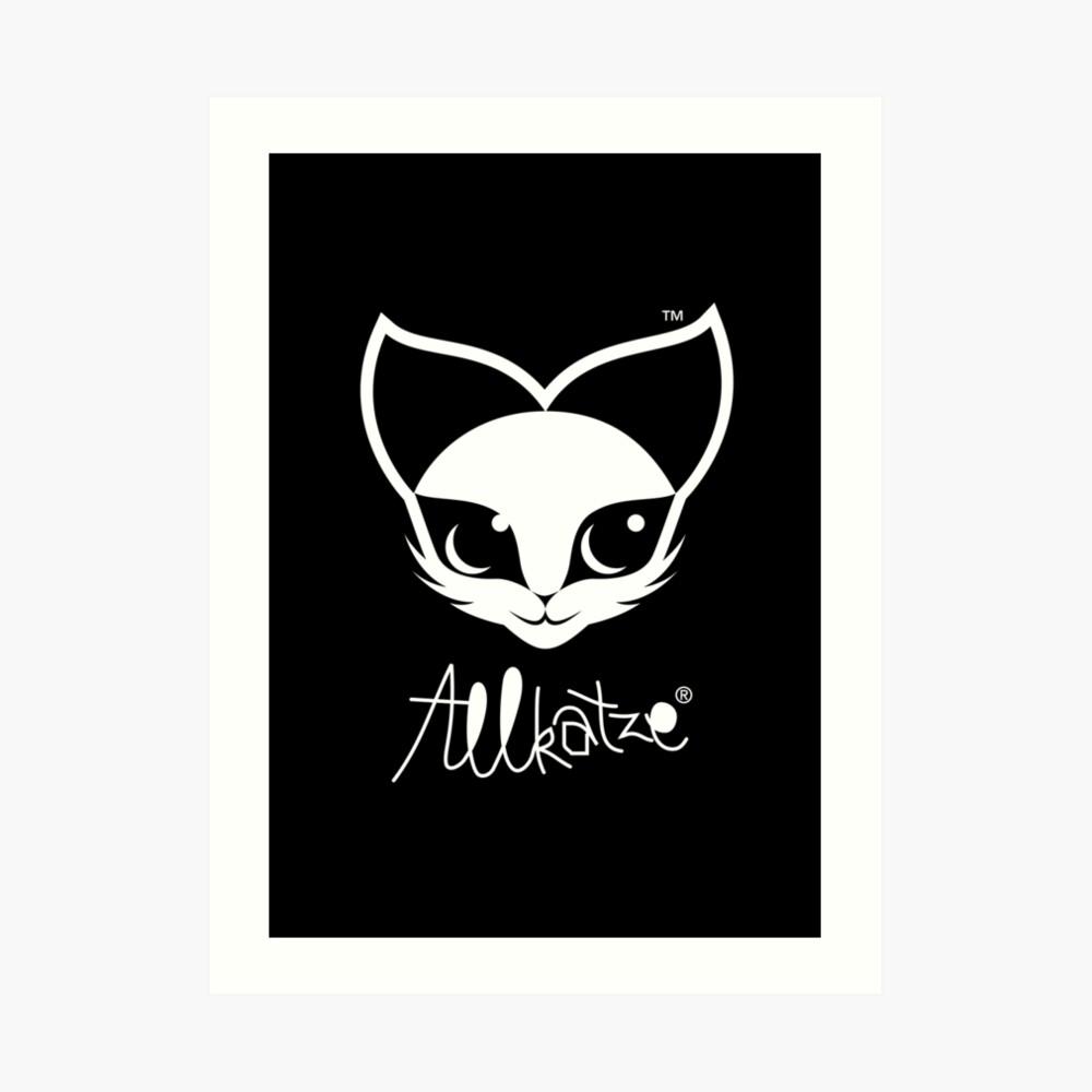 ALLKATZE * Space Cat - Weltraum-Katze - Chat d'Espace Kunstdruck