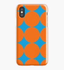 Diamond Brush Stroke Pattern (Blue Orange) iPhone Case/Skin