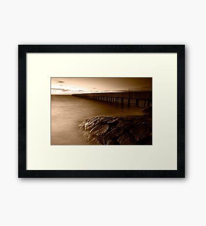 Dusk at Middle Brighton Baths #4 Framed Print