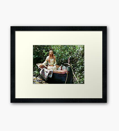 Celtic Goddess in a Boat Framed Print