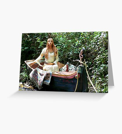 Celtic Goddess in a Boat Greeting Card
