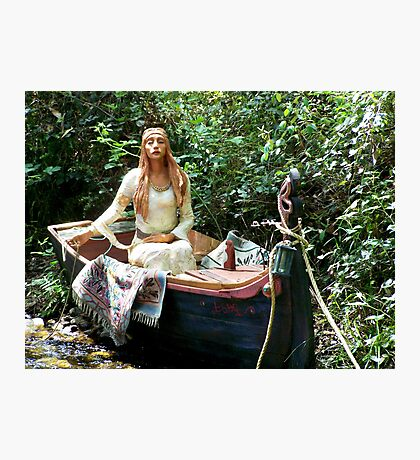 Celtic Goddess in a Boat Photographic Print