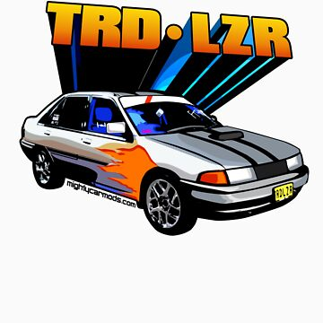 TRD Laser - 80's Style Bright Colour by martinm
