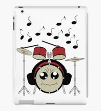 Schlagzeug mit Kopfhörer iPad-Hülle & Klebefolie
