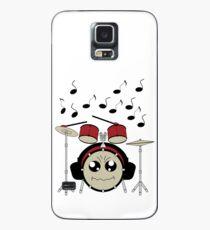 Schlagzeug mit Kopfhörer Hülle & Klebefolie für Samsung Galaxy