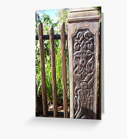 Ornamental Fence Greeting Card