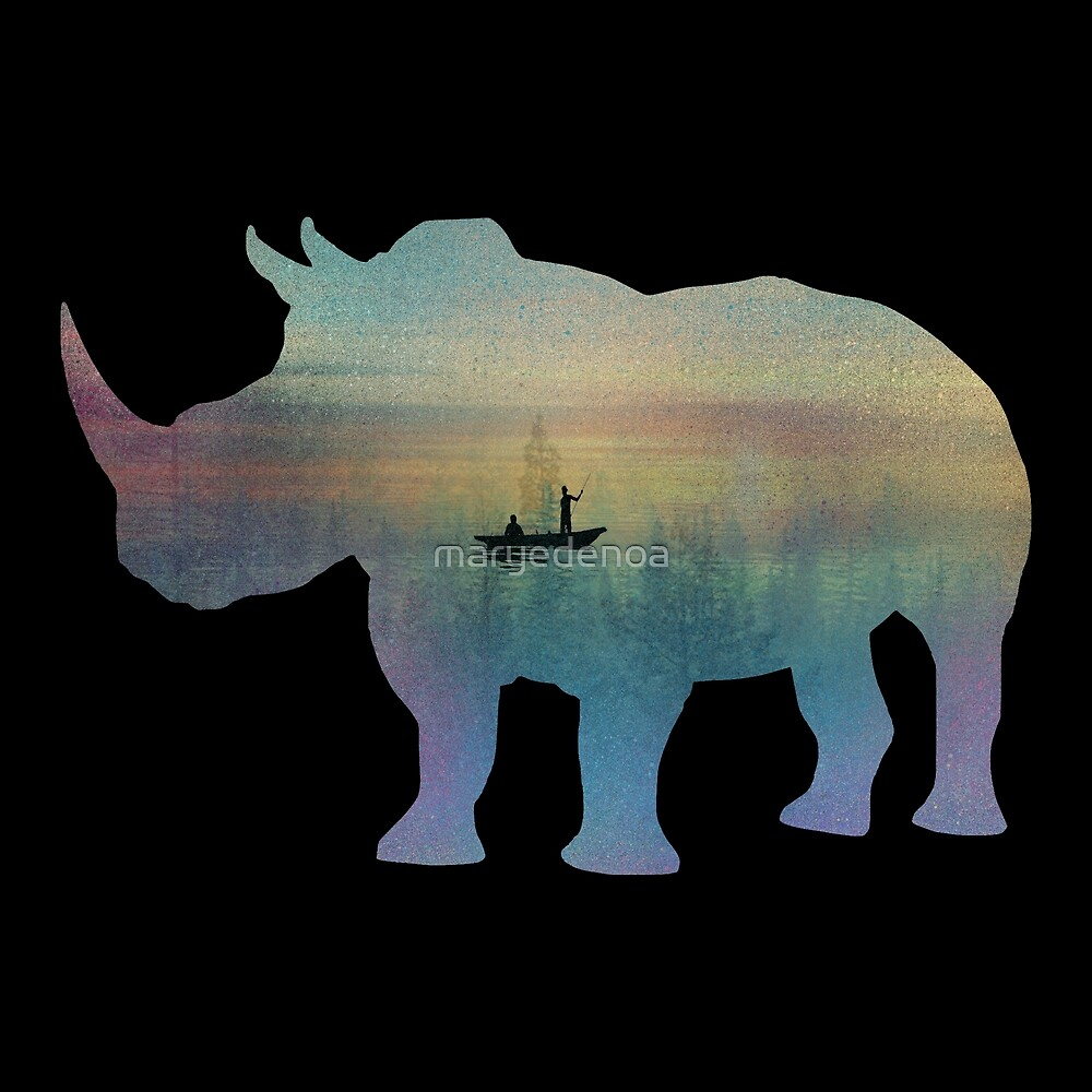 Rhino Magical Nature Time von maryedenoa