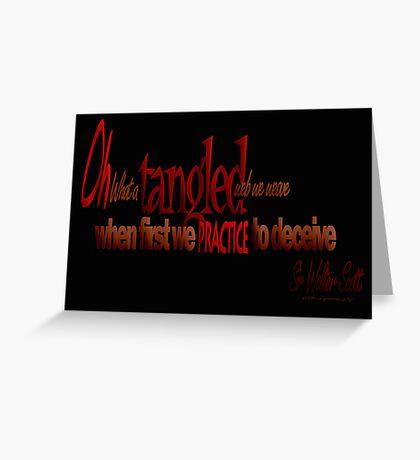 Tangled Webs © 04 Greeting Card