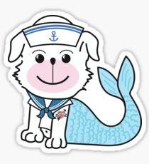 "Merdoggo Saillor ""MerMan"" Blue Sticker"