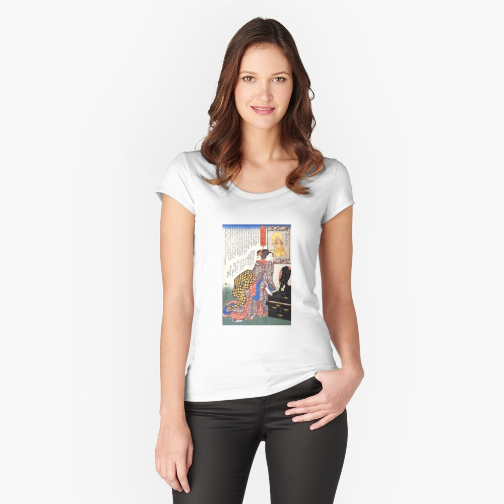 Secrets of beauty Fitted Scoop T-Shirt