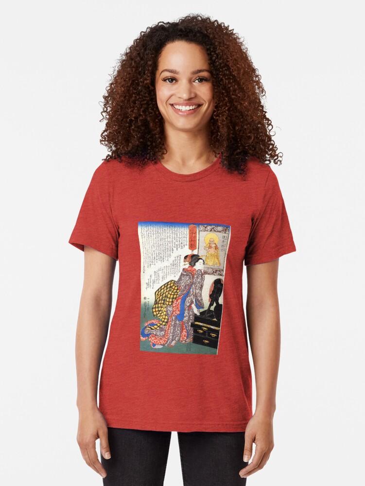 Alternate view of Secrets of beauty Tri-blend T-Shirt