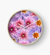 Colorful Summer Flowers Photoart Clock