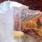 Waterfall in an autumn day in the italian alps by zakaz86