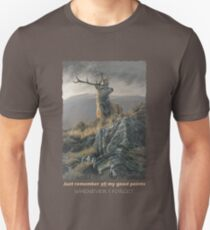 "Red Deer Stag ""Whenever I Forget"" Slim Fit T-Shirt"