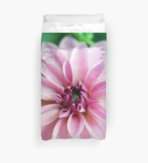 Beautiful And Gorgeous Creme Pink Dahlia Duvet Cover