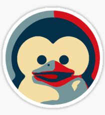 Linux tux penguin obama poster baby  Sticker