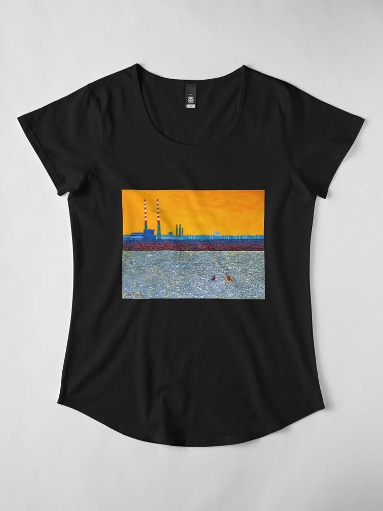 Alternate view of Poolbeg, Kayakers (Dublin, Ireland) Premium Scoop T-Shirt