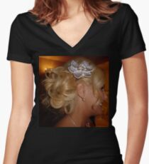 The Beautiful Bride Women's Fitted V-Neck T-Shirt