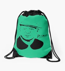 Pablo Picasso - Neon (Best Painters Collection) Drawstring Bag