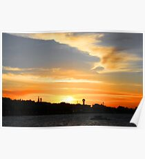 Newcastle Harbour Sunset- Australia Poster
