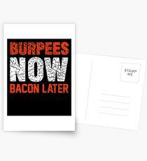 Burpees jetzt Speck später Postkarten