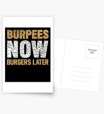 Burpees jetzt Burger später Postkarten