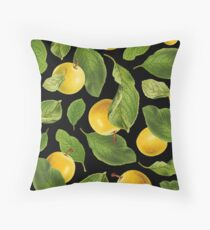 Botanical Vintage Fruit Throw Pillow