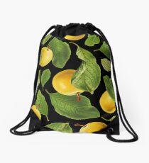 Botanical Vintage Fruit Drawstring Bag
