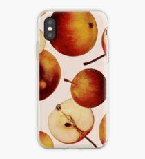 Vintage Apples Print iPhone Case