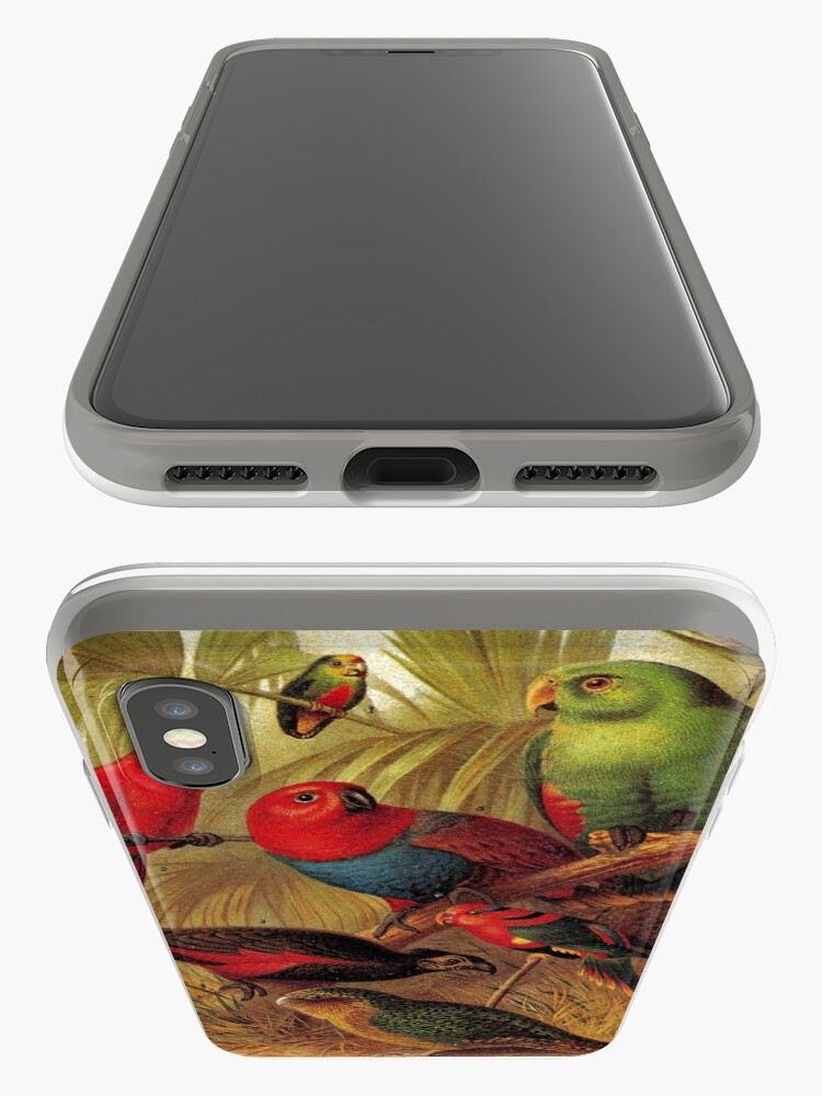 Alternate view of Parrots in the Jungle iPhone Case & Cover