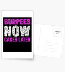 Burpees backt jetzt später zusammen Postkarten
