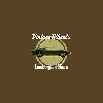 Vintage Wheels - Lamborghini Miura by DaJellah