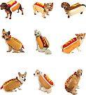 Hotdoggos Sticker-pack by Elisecv