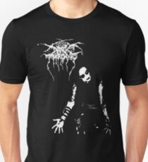 Darkthrone Black Metal Fenriz überquert das Dreieck der Flammen Slim Fit T-Shirt