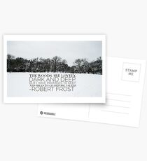 The Woods are Lovely Dark and Deep Postcards