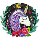 Watercolor Unicorn  by shashira