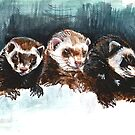 «Three Sleepy Ferrets» de belettelepink