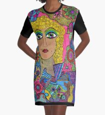 Kaleidoscope Eyes Graphic T-Shirt Dress