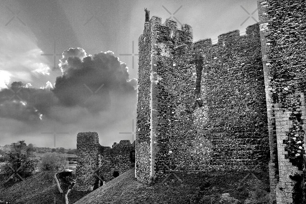 Framlingham Castle in Black and White by Geoff Carpenter