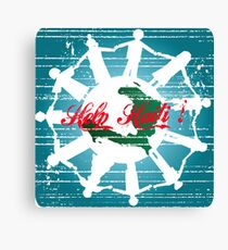 grunge help haity card Canvas Print