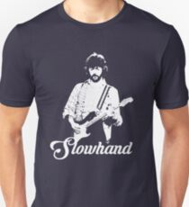 Eric Clapton - Slowhand - Weiße Schablone Slim Fit T-Shirt