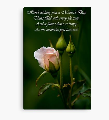 Mother's Day Card 4 Canvas Print