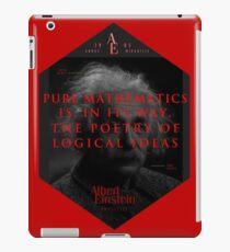 Vinilo o funda para iPad Citas de: Albert Einstein sobre poesía - Póster, camiseta, adhesivo y regalos