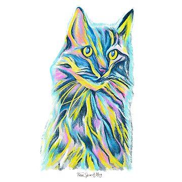 Colorful Cat by Free-Spirit-Meg