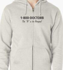 1-800-DOCTORB Zipped Hoodie