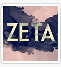 Greek Letter Zeta Sticker