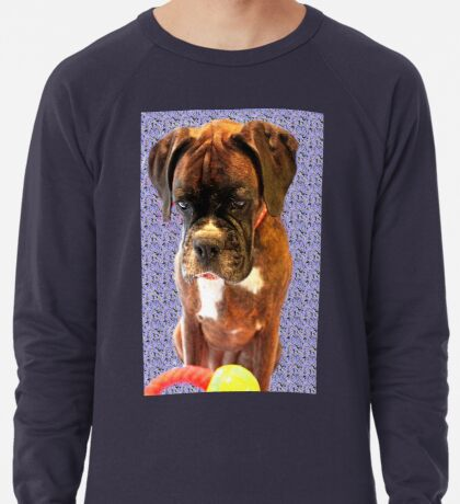 Feeling Blue - Boxer-Hunde-Serie Leichtes Sweatshirt