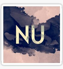 Greek Letter Nu Sticker