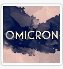 Greek Letter Omicron Sticker